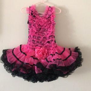 Popatu little girl tutu dress pink black size XS